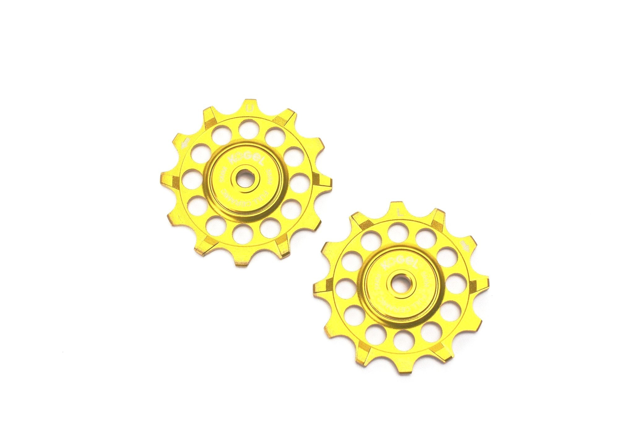 Midas Gold 12 tooth 'Not for Instagram' pulleys for Sram and Shimano ROAD