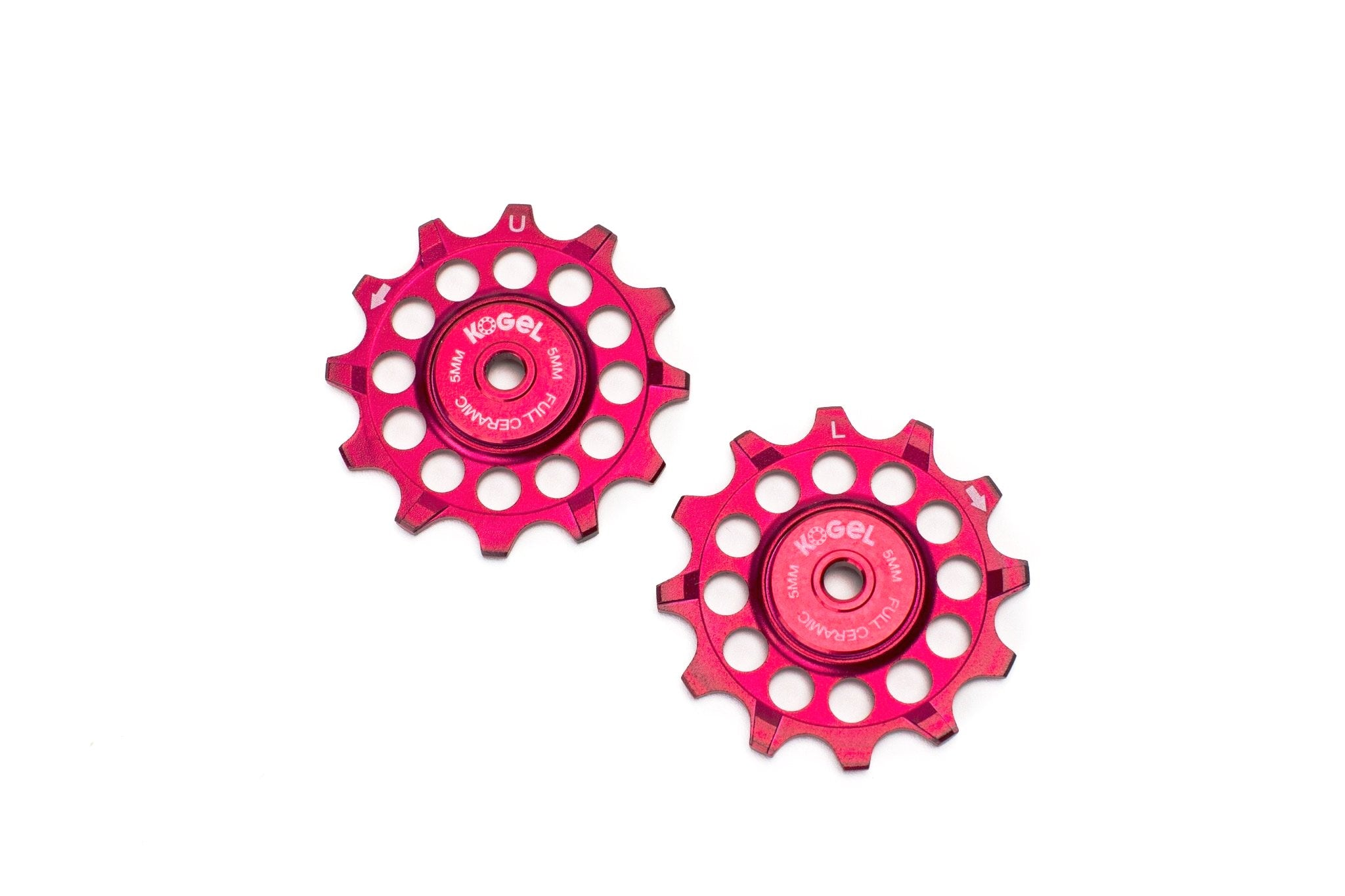 Fire Engine Red 12 tooth 'Not for Instagram' pulleys for Sram and Shimano ROAD