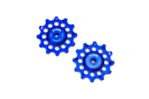 Royal Blue 12 tooth narrow wide pulleys for Shimano Ultegra and Dura Ace