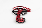 Shimano Dura Ace R9100 and Ultegra R8000 Oversized Derailleur Cage - Fire-Engine Red