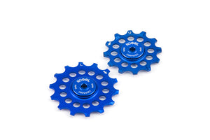 12/14T Oversized pulleys for Shimano road derailleurs - Royal Blue