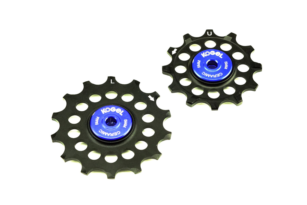 12/14T Oversized pulleys for Shimano road derailleurs