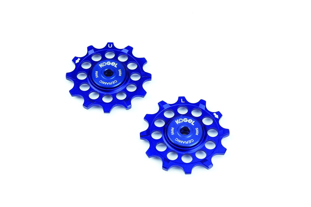 Royal Blue 12 tooth narrow wide pulleys for Sram and Shimano
