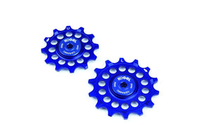 12/14 tooth narrow wide pulleys for Sram Eagle - Royal Blue