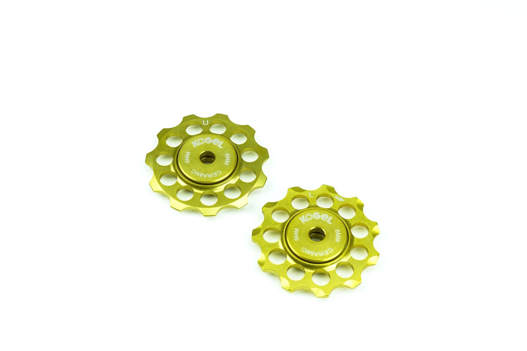 Midas Gold Aluminum derailleur pulleys with ceramic bearings