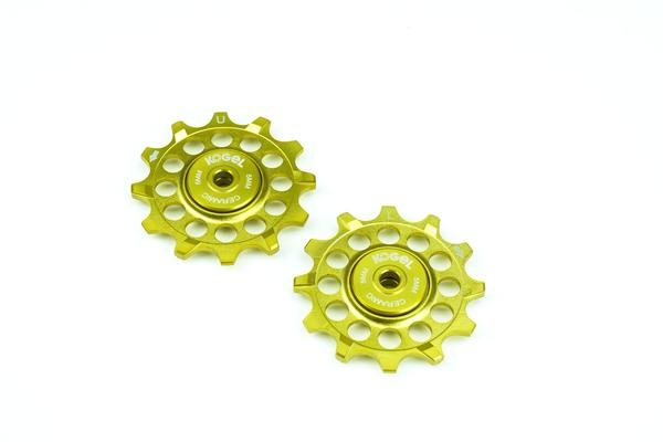 Midas Gold 12 tooth narrow wide pulleys for Shimano Ultegra and Dura Ace
