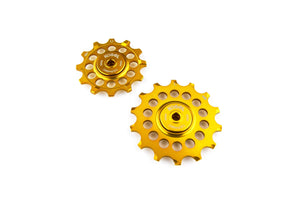 12/14T Oversized pulleys for Shimano road derailleurs - Midas Gold