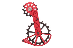 Shimano GRX and Ultegra RX800 Oversized Derailleur Cage - Fire-Engine Red