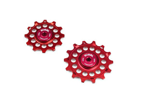 12/14 tooth narrow wide pulleys for Sram Eagle - Fire Engine Red