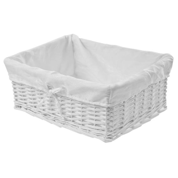 white wicker flip flop presentation basket