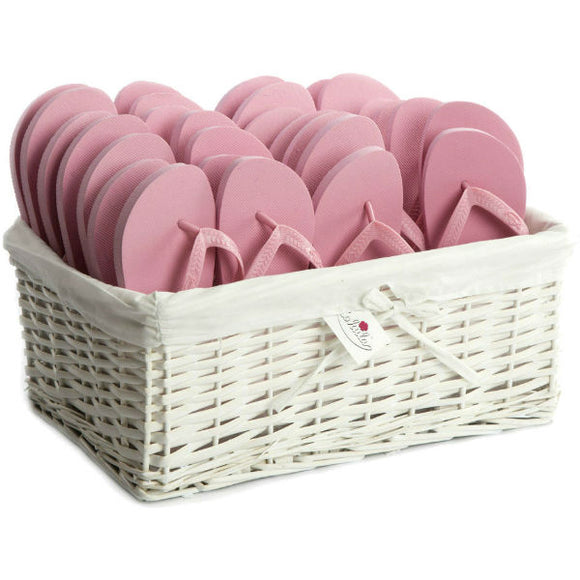 baby pink flip flops party pack