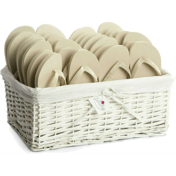cream flip flops party pack