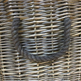 rope handle on log basket