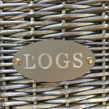 log basket sign