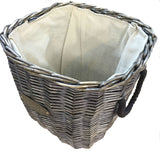 inside wicker basket