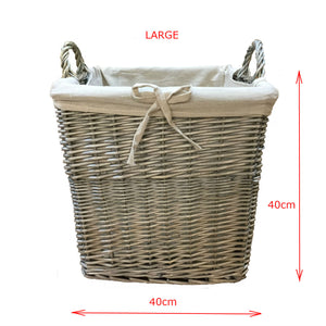 wicker log basket