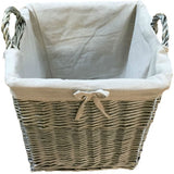 wicker log basket large