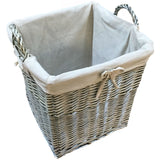 wicker log basket medium