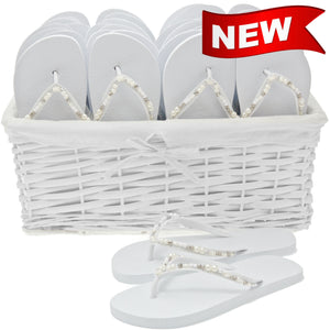 zohula pearl flip flops wedding basket