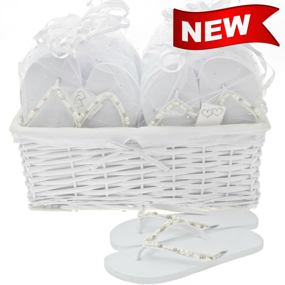 bridal party pack of flip flops