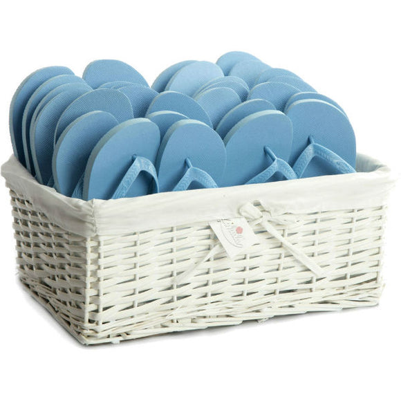 sky blue flip flops party pack
