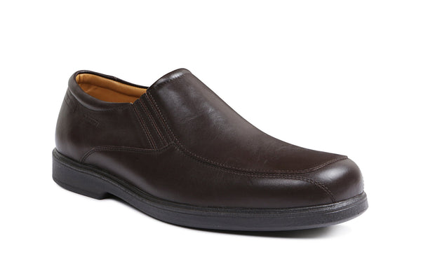 MULAND Leather - Gentlemens Sledgers Shoe in Brown