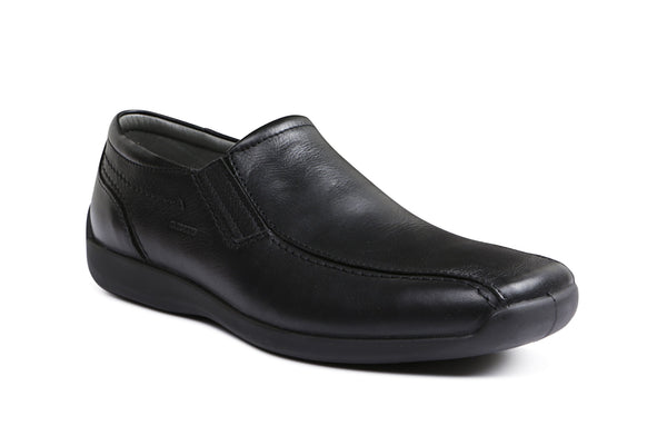 Acrin LEATHER - Sledgers Mens Comfortable Shoe in Black