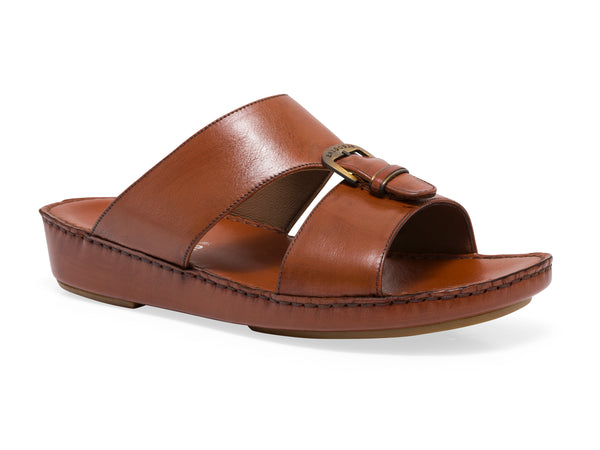 GEELONG LEATHER SLIP ON SANDALS - Sledgers