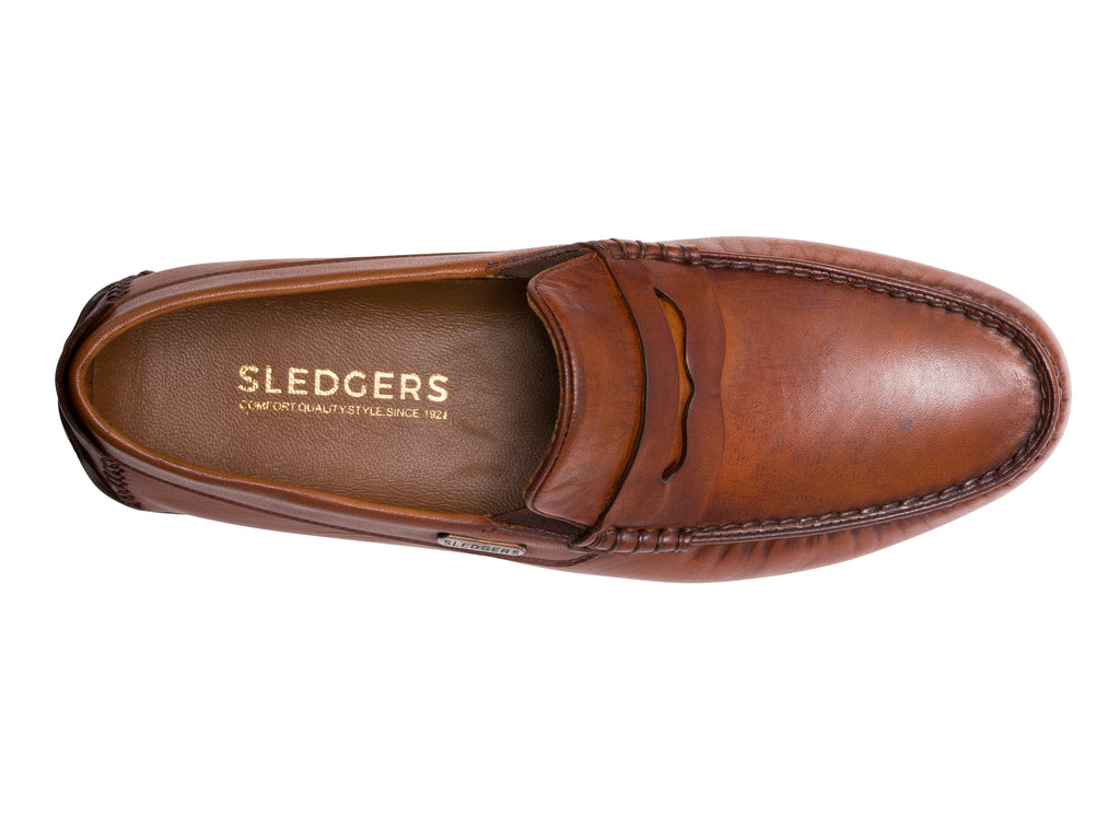 TALLADEGA: Men's Handmade Leather Driving Shoes - Sledgers