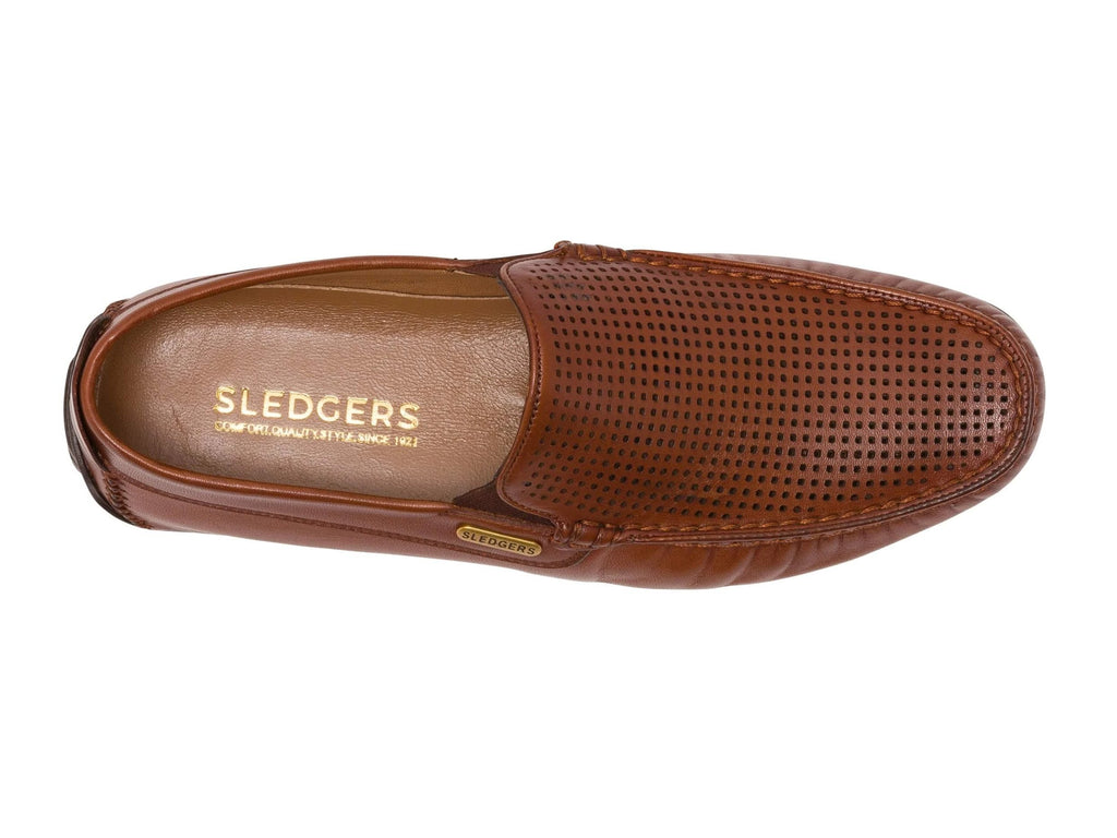 BROCKTON: Men's Handmade Leather Driving Shoes - Sledgers