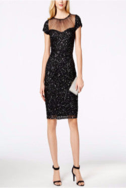 Black Glittery Cocktail Dress