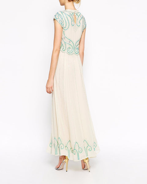 Maxi Dress With Baroque Embellishment