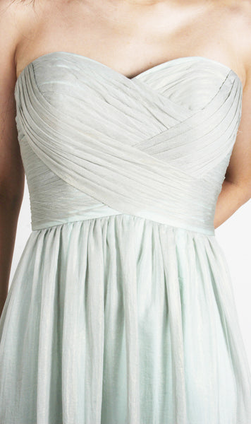 Audrey Sweetheart Gathered Mint Gown