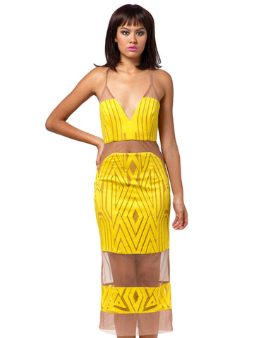 The Desired Cocktail Midi Dress
