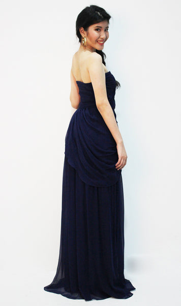 Strapless Midnight Blue Gown