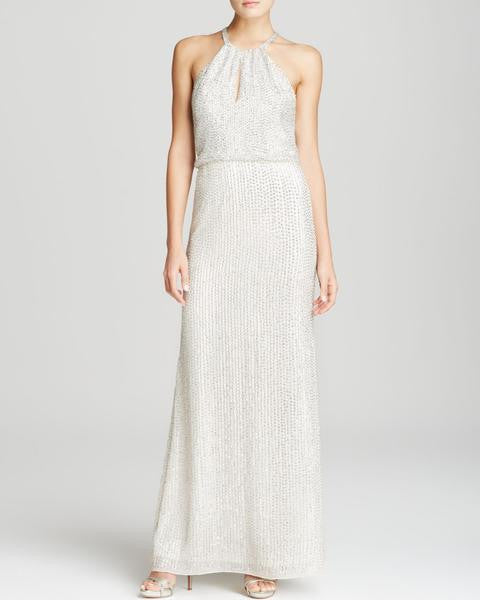 Lita Beaded Keyhole Gown