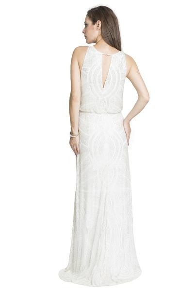 Lumier Queen Serpent Maxi Dress in White