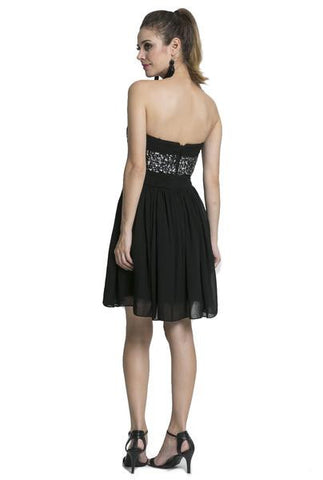 Embellished Strapless Mini