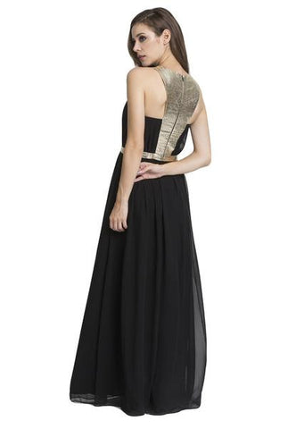 Lumier Grecian Goddess Dress in Black
