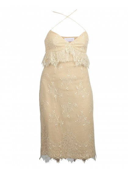 Beige Dress With Laces