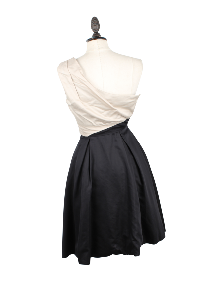One Shoulder Dress (Grey and Black)