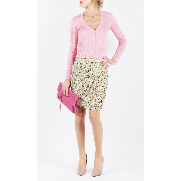 Mini Skirt With Colored Sequins