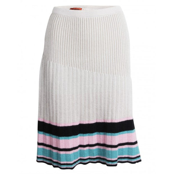 Beige pink black and turquoise skirt