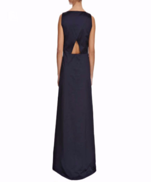 Navy Cut-out Back Dress