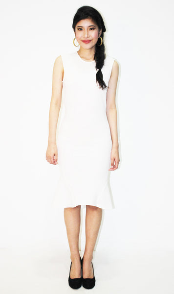 Ivory Flounce Dress