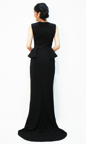 Black Peplum Gown