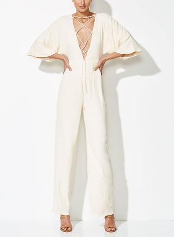 Titania Jumpsuit Cream