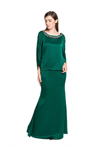 Annaya Kurung in Green