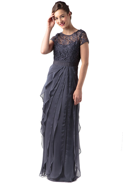 Combo Lace Bodice Gown