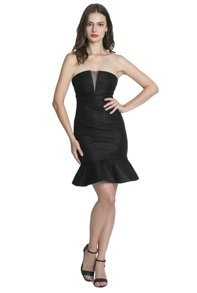 Black Fluted Dress